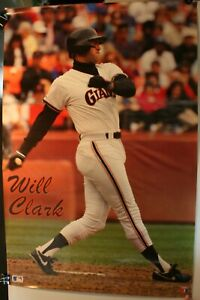 """1989 Will Clark San Francisco Giants 23 x 35"""" Poster New Making Waves"""