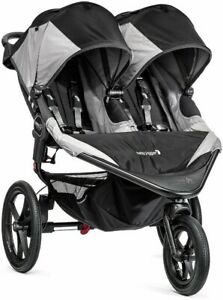Baby Jogger Double Stroller Summit X3 Twin Infant Jogging Buggy - Gray/Black