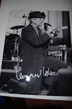Leonard Cohen signed 11x14 -Boldly autographed IN Person  signed in  Silver