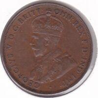 CB1450) Australia 1933/2 Overdate Penny, good EF