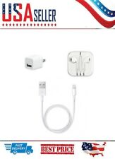iPod or iPhone SE/6/7/8/X  Earpods, Wall Charger, Lightning Cable Bundle