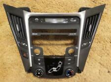 2014 Hyundai Sonata Radio Bezel w/ Climate Control, Hazard Switch, Digital Clock