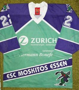 Vintage ESC Moskitos Essen Hockey Match Player Jersey Zurich IEV