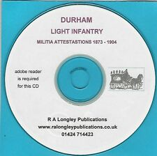 Durham Light Infantry 1873 - 1904 Attestation Papers Index
