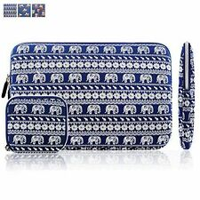 Blue Elephant Laptop Macbook pro Canvas Sleeve Zipper Case Cover Bag 15.6""