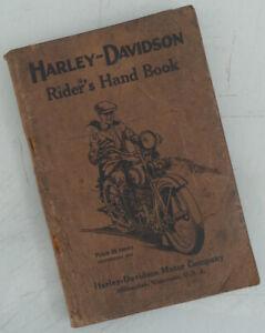 1924 HARLEY DAVIDSON MOTORCYCLE ORIGINAL FACTORY MANUAL BOOK ALL V TWIN  J  JD