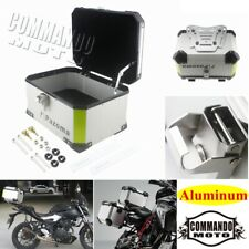 Motorcycle Scooter Top Case Rear Box Black For Harley Touring Honda BMW Cruiser