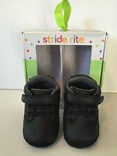 New Stride Rite Black Crawl Dressed-Up De Casual Shoes  Sz 2M ( 3 - 6 months )