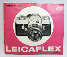 Leitz LeicaFlex Manual Instruction Book - English
