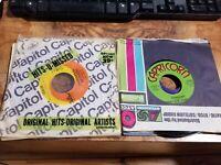 Lot Of 10 45 RPM 50 60s 70s Pop Soul Jukebox ALL GENRES Random Vinyl Record .