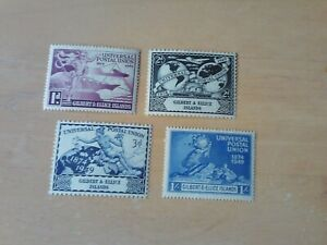 GEORGE VI 1949 UPU  GILBERT AND ELLICE ISLANDS UN MOUNTED MINT