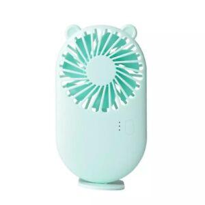 Summer 1pc Cute Portable Mini Fan Handheld USB Chargeable Desktop Fans