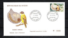 Niger  enveloppe 1er jour  oiseau  ploceus  1967