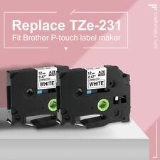 2pk Compatible Tze 231 Label Maker Tape For Brother P Touch Pt D400 Pt D210 12mm