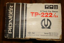 PIONEER TP-222  8 TRACK CAR STEREO TAPE PLAYER MINT IN BOX!!!