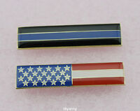 9//11 Support Police Lapel Hat Pin Thin Blue Line Chrome Silver Plating TBL Cop