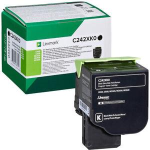 Lexmark C242XK0 Black Extra High Yield Printer Toner Cartridge Genuine Original