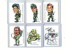 Ghostbusters 1984 Movie (6 Cards) Art Prints Venkman Stantz Slimer Spengler