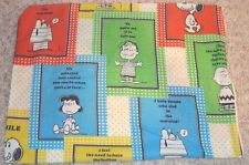 Pillow Case Peanuts Both Sides, OR FOR CRAFTS, MATERIAL SEWING Smoke Free