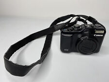 CANON POWERSHOT G10 14.7MP BLACK DIGITAL CAMERA WITH SD CARD & STRAP. UNTESTED