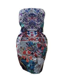 Mary Katrantzou For Top Shop L Strapless Dress