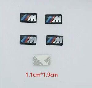 5 Autocollant Stickers 3D Logo BMW M Tech Jante Volant 1.1*1.9cm