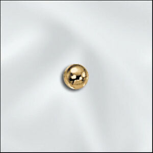 3mm Gold Plated Smooth Round Beads (100) U.S. Seller Get Em Quick!