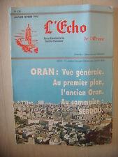 Algérie, Oran: Revue L'Echo de l'Oranie, N° 230: 01-02/1994, BE
