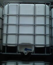 1000L IBC With Ball Valve, NON TRANSPARENT, FOOD Grade Opaque White