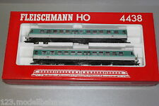 Fleischmann 4438 Triebwagenzug Baureihe 614 DB weiß/türkis Spur H0 OVP