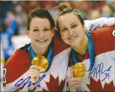 CATHERINE WARD & MARIE PHILIP POULIN dual signed 8x10 photo TEAM CANADA
