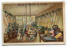 CHROMO ALCOOL DE MENTHE DE RICQLES  USINE CHOCOLAT