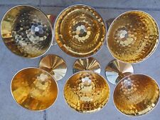 Vintage  Japanese ? Gold Plated Sake Cup 24KGP SET of 6