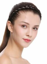 Haarband Haarreif geflochten Tracht traditionell dunkelbraun braid CXT-007-004