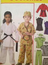 McCalls Sewing Pattern 6184 Girls Boys Karate Nurse Prisoner Costumes Size 2-5