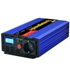 Spannungswandler 1200 2500 Watt 12V 230V Auto Wechselrichter Softstart CE LCD