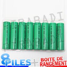8 PILES ACCUS RECHARGEABLE 18650 3.7V 4000mAh Li-ion + BOITE DE RANGEMENT OFFERT