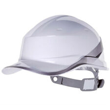 White Deltaplus venitex Construction Ratchet Hard Hat / Safety Helmet Diamond