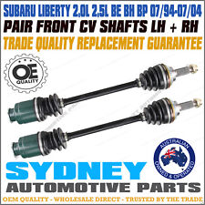 PAIR CV JOINT AXLE DRIVE SHAFT SUBARU LIBERTY BE BH BP 07/94 -07/04 LEFT & RIGHT