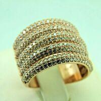 Turkish Handmade Jewelry 925 Sterling Silver Zircon Stone Women Ring Sz 7