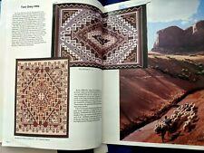The Fine Art of Navajo Weaving [1984] RUG WEAVING SADDLE BLANKET DESIGN BOOK