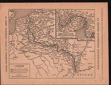 WWI Map Carte France Belgique Italy Serbia Bulgaria Turkey War 1917 ILLUSTRATION