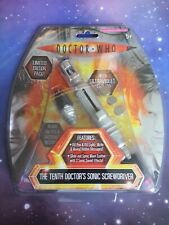 10th Doctor Who Sonic Screwdriver Ultraviolet Ink Pen Nibs Light & Sound Tenth