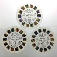 Lot of 3 Chip N Dale 3D View Master Slides Stereo Reels Q648