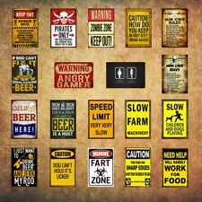 Vintage Man Cave Cafe Garage Retro Metal Tin Sign Wall Decor Plate Poster 8*12in