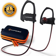 IMPERO Bluetooth Sport Headphones with Mic, Wireless Earbuds for Running Workout