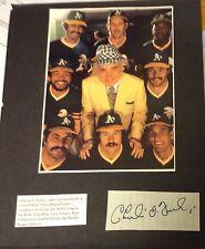 Charles Charley O. Finley Signed Cut Oakland A's Autograph w/ Photo cbm COA auto