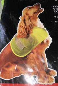 High Visibility Dog Vest Reflective Fluorescent Pet Safety Coat Hi Vis 49X37cm