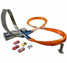 Hot Wheels Figure 8 Raceway with 6 Cars Kids Boys Toy Play set Track and Loop!