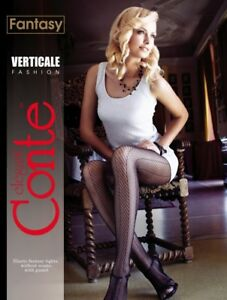 Conte TIGHTS Verticale | Fashion Herringbone Fishnet Pantyhose